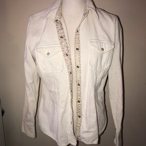 Cream Corduroy Button Up Shirt